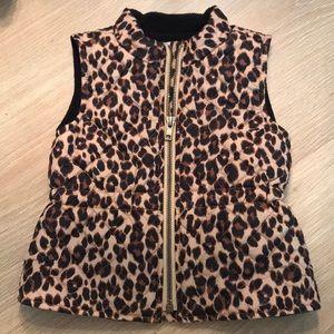 Old Navy leopard vest w/ waterproof shell